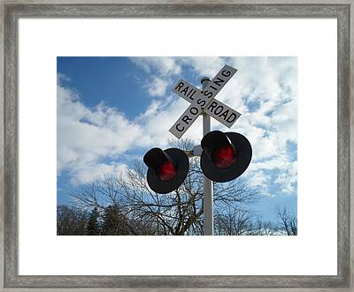 Cross The Railroad Framed Print