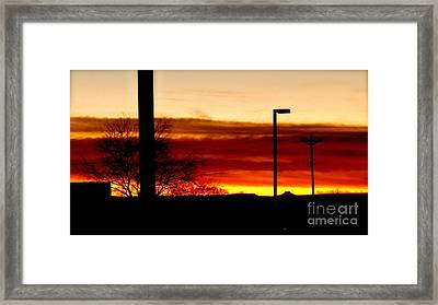 Cross The Skies Framed Print