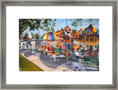 Crossbay Amusement Park Framed Print
