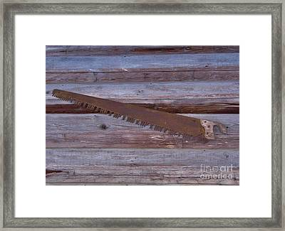 Crosscut Saw Framed Print