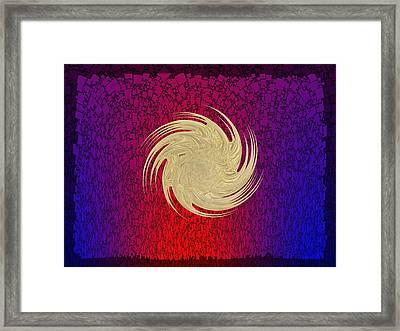 Crosscut Framed Print