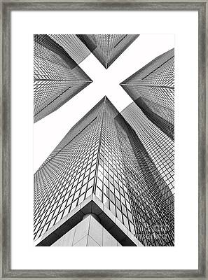 Crossed Framed Print by Az Jackson