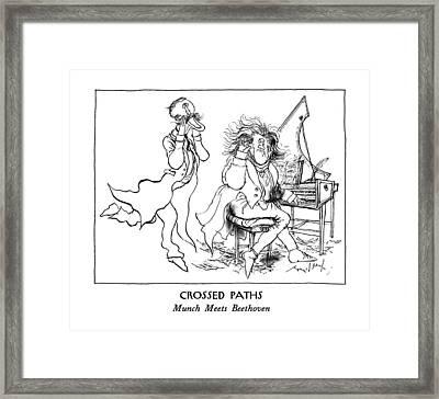 Crossed Paths Munch Meets Beethoven Framed Print