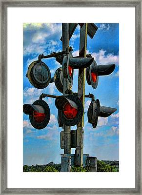 Crossed Signals Framed Print by Wendy J St Christopher