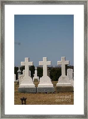 Crosses Framed Print