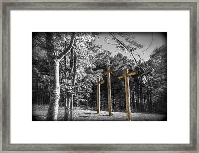 Crosses Framed Print by Debra and Dave Vanderlaan