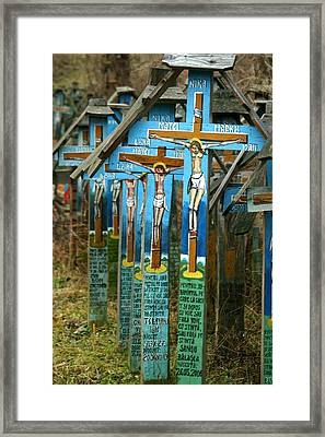 Crosses In An Orthodox Graveyard Framed Print