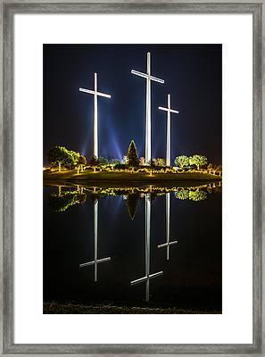 Crosses In Reflection Framed Print