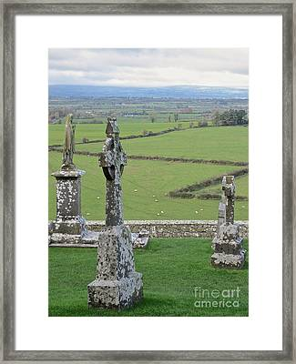 Framed Print featuring the photograph Crosses Of Cashel by Suzanne Oesterling