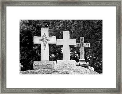 Crosses On A Tomb 2 Framed Print