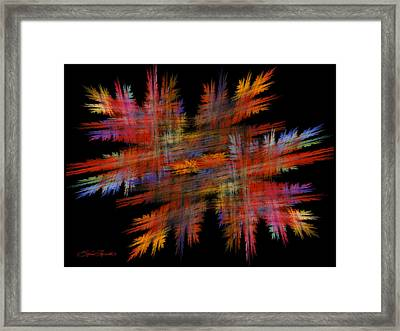 Crosshatch Framed Print by Sylvia Thornton
