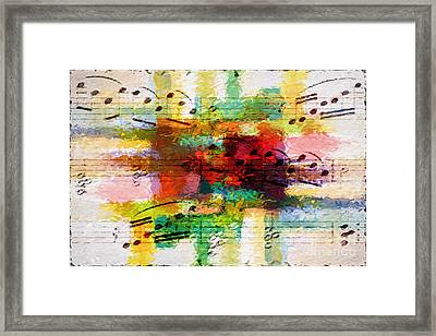 Crosshatched Pastiche Framed Print