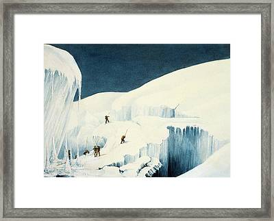 Crossing A Ravine, From A Narrative Framed Print
