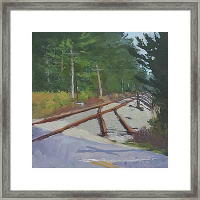 Crossing At Cathance Framed Print