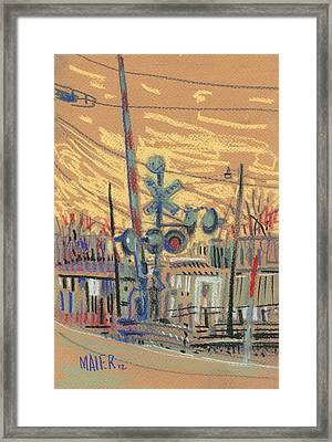 Crossing At Sawyer Framed Print by Donald Maier