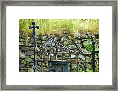 Crossing Gate Framed Print