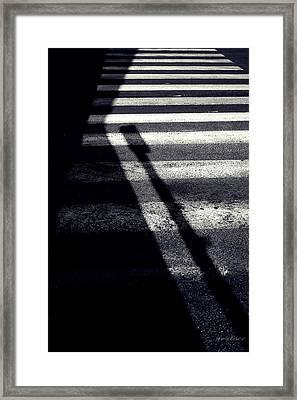 Crossing Guard Framed Print by Steven Milner