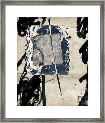 Crossing Indigo Framed Print by Carol Leigh