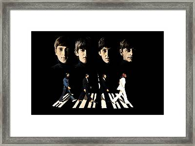 Crossing Into History The Beatles  Framed Print by Iconic Images Art Gallery David Pucciarelli