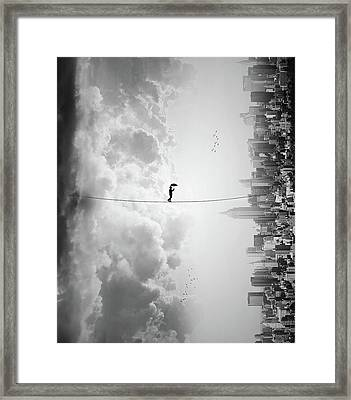 Crossing Framed Print by Ivan Marlianto