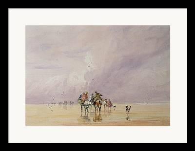 Beach Landscape Drawings Framed Prints