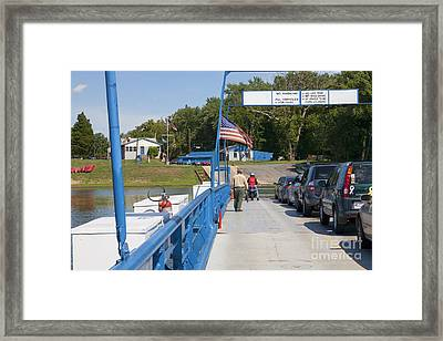 Crossing The Potomac On White's Ferry From Virginia To Maryland Framed Print by William Kuta