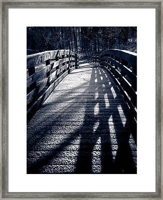 Crossing Over Framed Print by Jessica Brawley