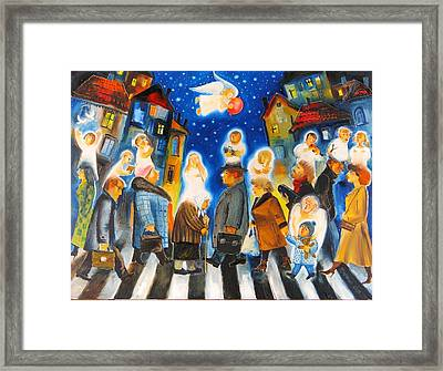 Crossing Over Framed Print by Mikhail Zarovny