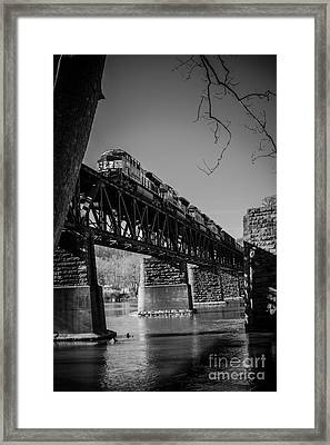 Crossing Over The New River Framed Print by Andrew Burdette