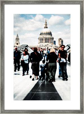 Crossing Over The Thames Framed Print by Mark E Tisdale