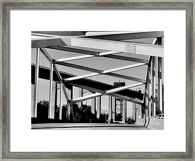 Crossing Over Under Over Crossing Framed Print by Lin Haring