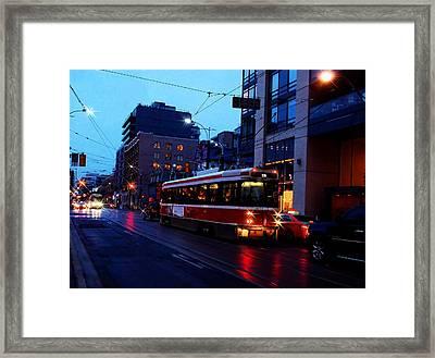 Crossing Spadina Framed Print by Nicky Jameson