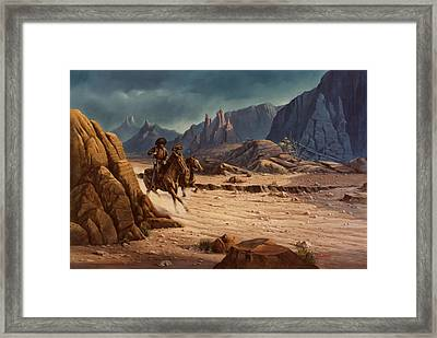 Crossing The Border Framed Print by Michael Humphries