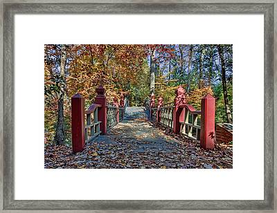 Crossing The Crim Dell Bridge II Framed Print