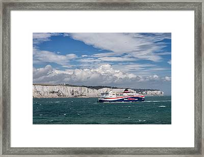 Framed Print featuring the photograph Crossing The English Channel by Tim Stanley