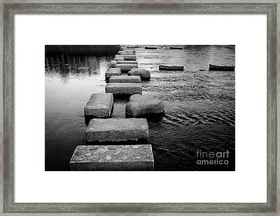 Crossing The Kamo River Framed Print by Dean Harte