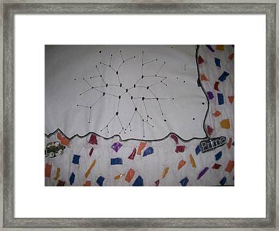 Crossing The Line Framed Print