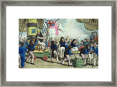 Crossing The Line, Plate From The Framed Print by Charles Williams