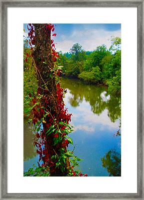 Crossing The Little Tennessee River Framed Print by Robert J Sadler