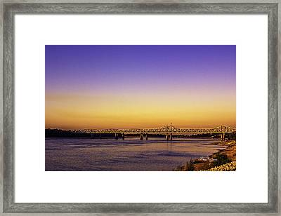 Crossing The Mississippi Framed Print by Barry Jones