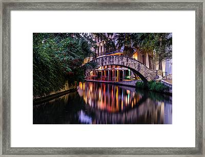 Crossing The River Framed Print by Jeffrey Spencer