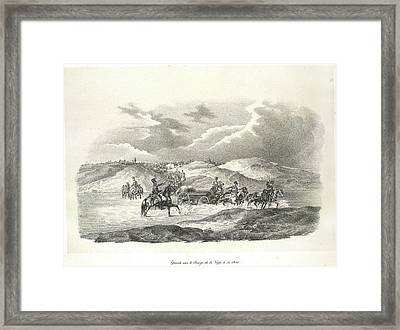 Crossing The River Vop Framed Print by British Library
