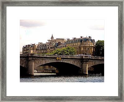 Crossing The Seine Framed Print by Lauren Leigh Hunter Fine Art Photography