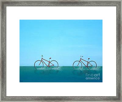 Crossing The Sound Framed Print