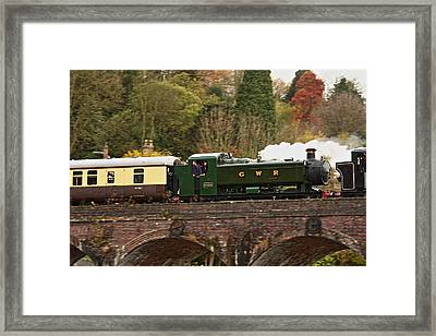 Crossing The Viaduct Framed Print by Paul Williams