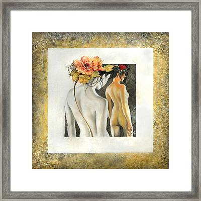 Crossing To The Another Side Of The  Shadow Framed Print