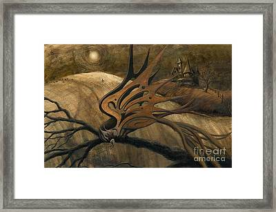 Crossroads Framed Print by Denise M Cassano