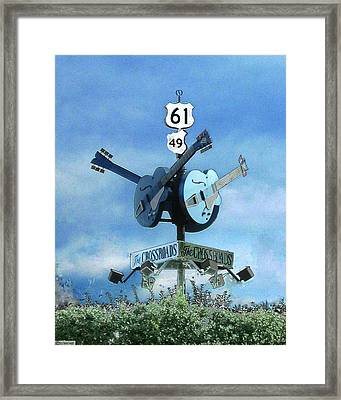 Crossroads In Clarksdale Framed Print by Lizi Beard-Ward