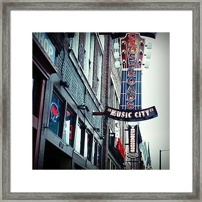 Crossroads Framed Print by Linda Unger