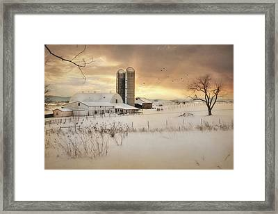 Crossroads Sunset Framed Print by Lori Deiter